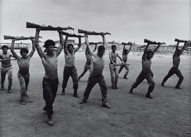 Palesztin harcosok kiképzésen