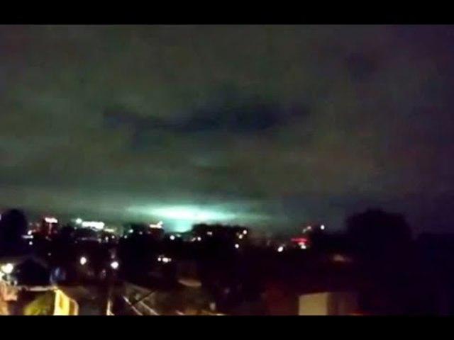 Rejtélyes zöld fények a mexikói földrengés után