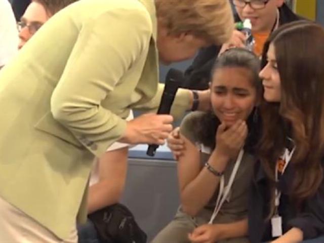 """""""Soha többé Izraelt"""" - mondja a kislány, akit Merkel megríkatott"""