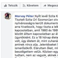 """Volt ügynök írt nyílt levelet Szita Károlynak: """"Jobb szembenézni a múlttal"""""""