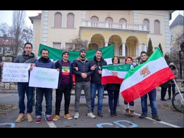 Budapesti tüntetés az iráni iszlám diktatúra ellen