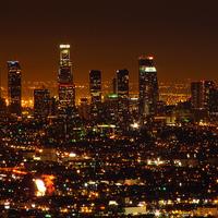 Los Angeles éjszakai ragyogása
