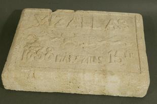 Árvíztábla - vízállás 1838. március 15-én