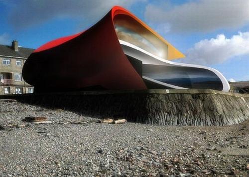Futurisztikus űrhajó a Clyde partján