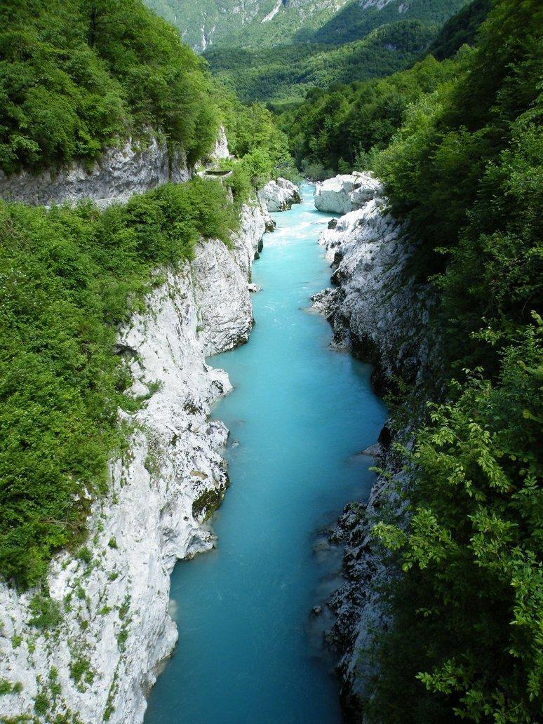 A Soča folyó Szlovéniában