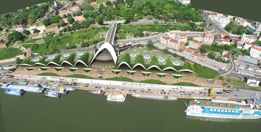 """Beton Hala Waterfront-  """"зеленый """" проект реконструкции набережной в..."""