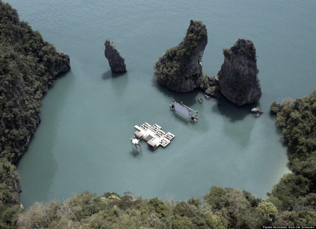 Úszó mozi Thaiföldön