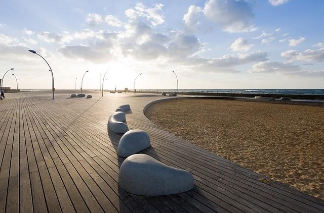 A tengerpart Tel Avivban