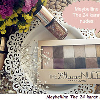 TESZT // Maybelline The 24 karat nudes szemfesték paletta