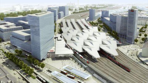 railjet, bécs, wien hauptbahnhof, látványterv
