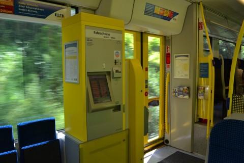ammerseebahn Bayerische Regiobahn jegyautomata Alstom Coradia LINT