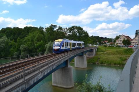 ammerseebahn Alstom Coradia LINT Lech folyó híd