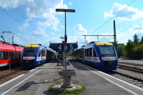 Weilheim állomás ammerseebahn Alstom Coradia LINT