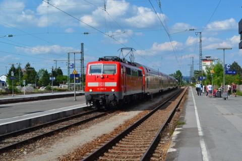 Weilheim állomás ammerseebahn DB 111 sorozat Mittenwaldbahn