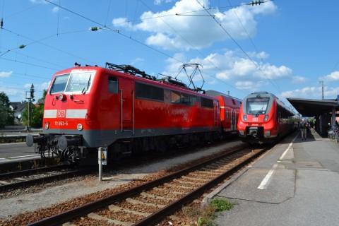 ammerseebahn Mittenwaldbahn Weilheim állomás Talent2 DB 111 sorozat
