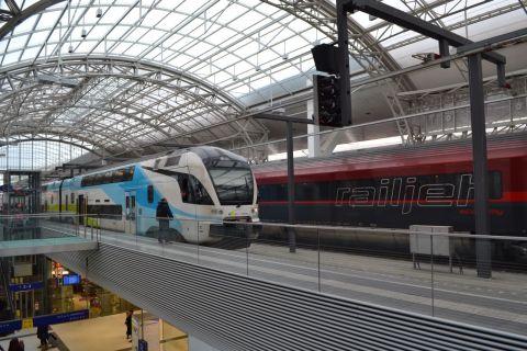 railjet, westbahn, stadler kiss, salzburg hauptbahnhof