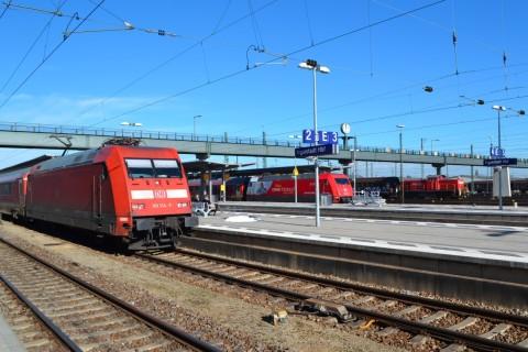 München-Nürnberg-expressz ingolstadt Hauptbahnhof vonatkereszt db 101