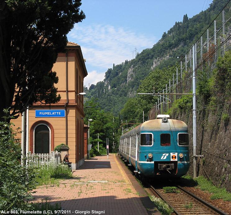 Fiumelatte vasútállomás olaszország lombardia Valtellina