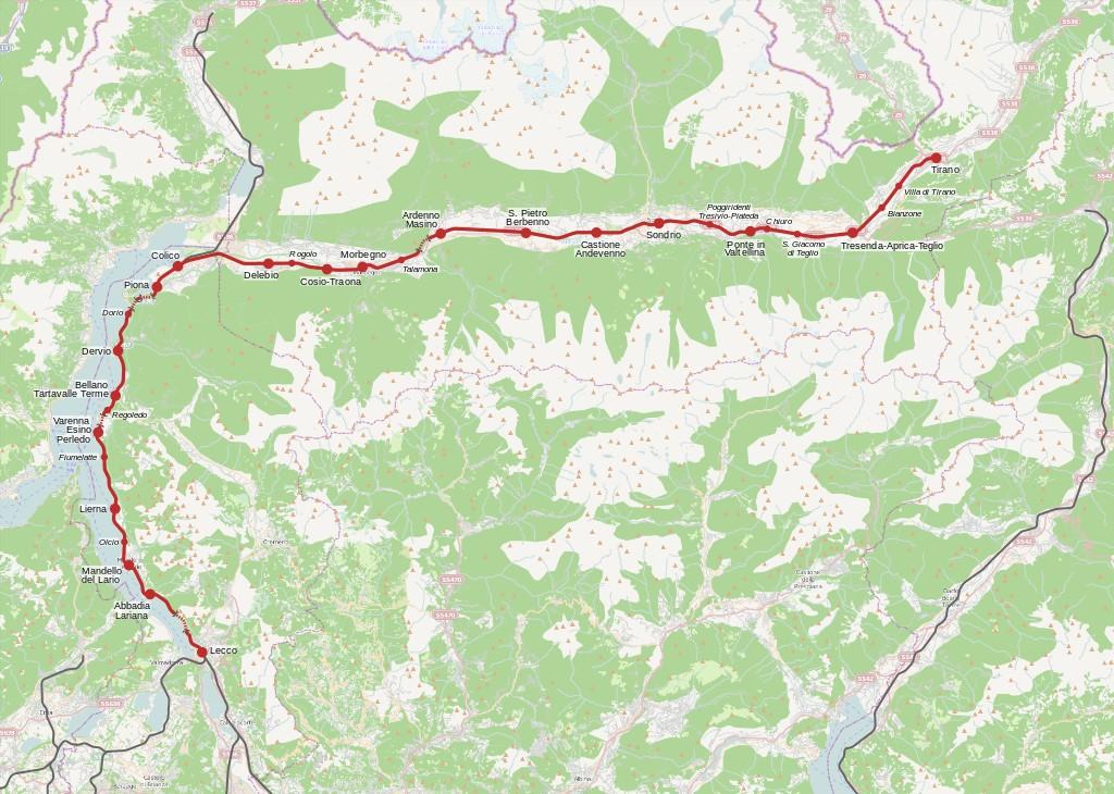 térképvázlat olaszország lombardia Valtellina
