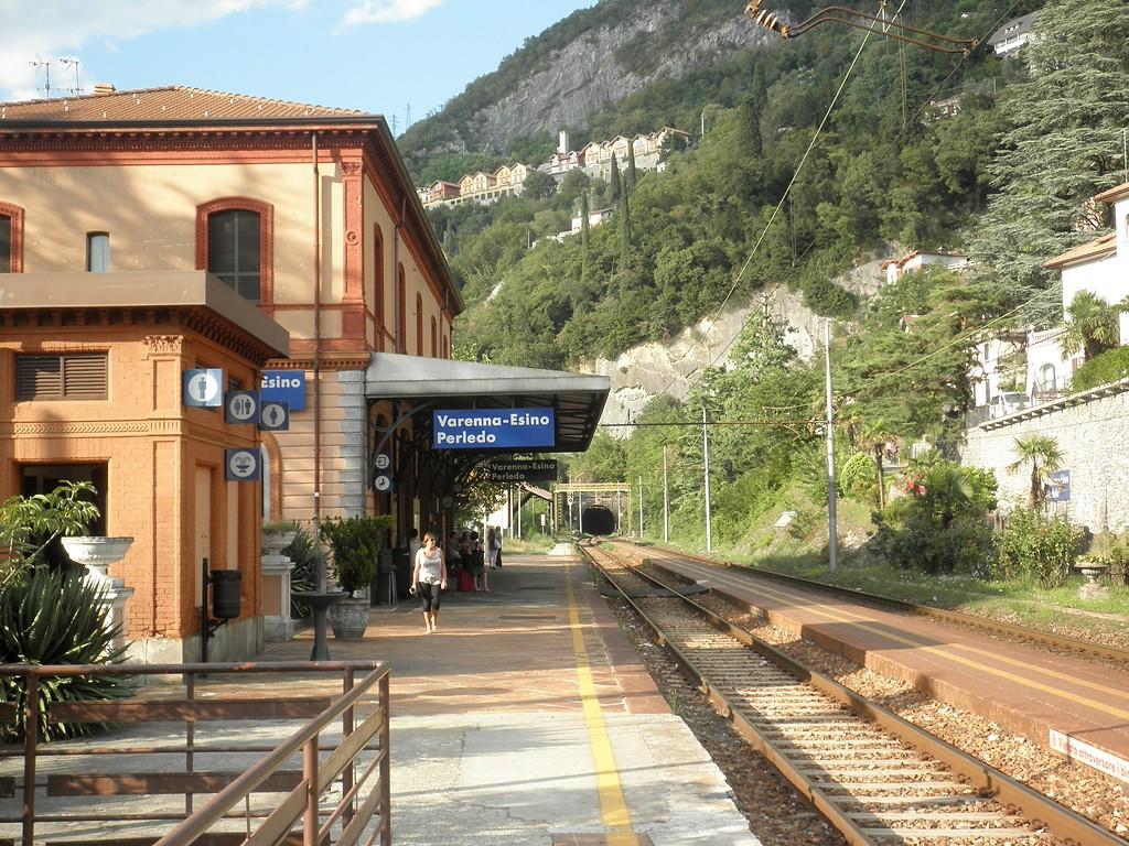 varenna vasútállomás morcate alagút olaszország lombardia Valtellina