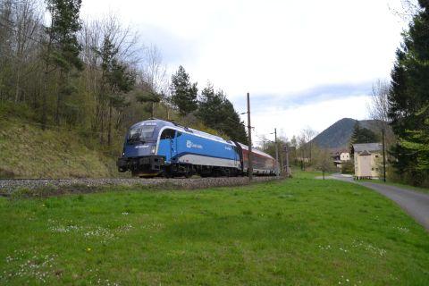 semmeringbahn Prága-Graz Railje