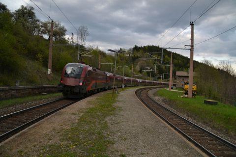 semmeringbahn állomás Prága-Graz Railjet