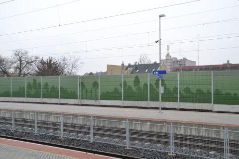 vác állomás zajvédő fal