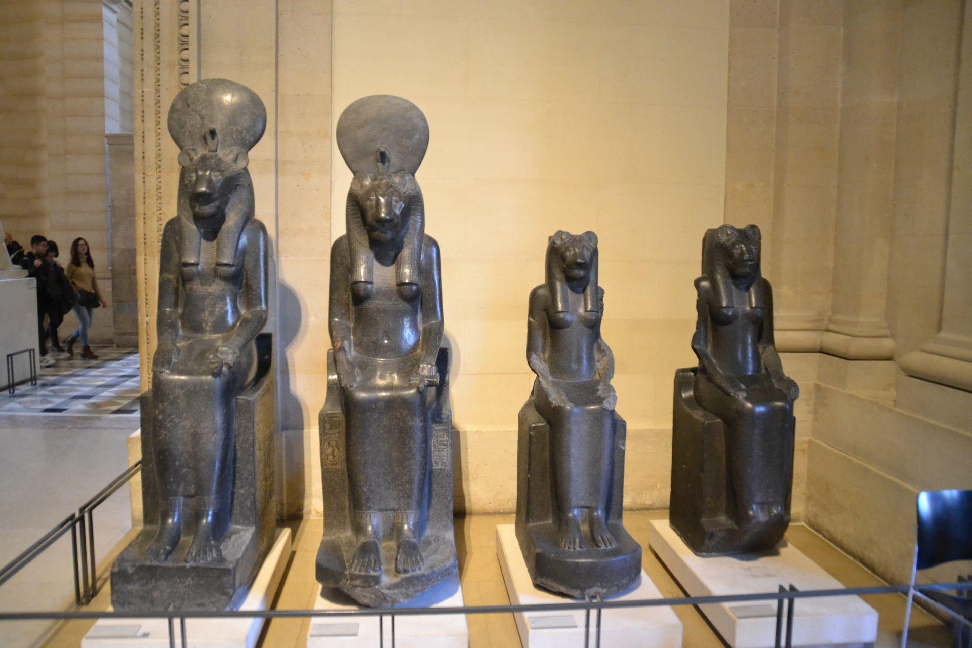 louvre, párizs, múzeum, ókori egyiptom, szobor