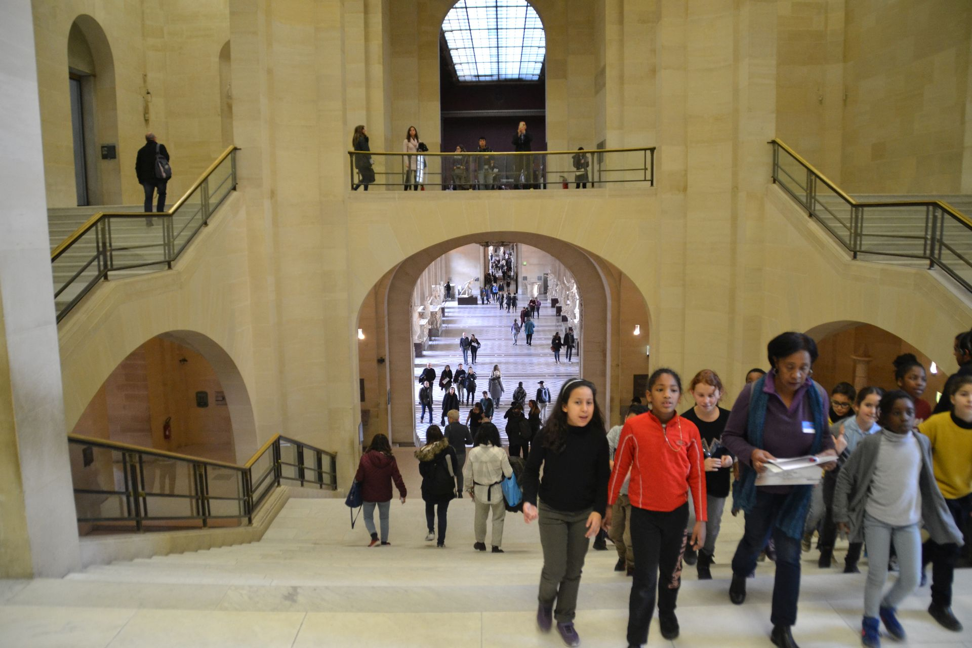 louvre, párizs, múzeum, lépcsőház