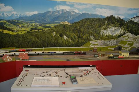 Ausztria, terepasztal, Spital am pyhrn, vezérlőpultmodelleisenbahn