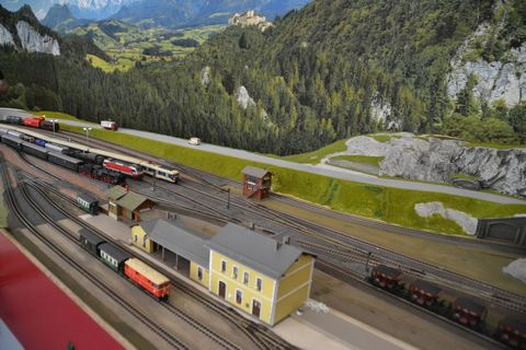 Ausztria, terepasztal, Spital am pyhrn, keskeny nyomtáv, h0modelleisenbahn