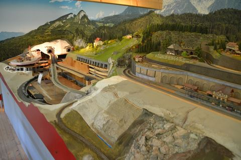 Ausztria, terepasztal, Spital am pyhrn, hátérposzter, h0modelleisenbahn