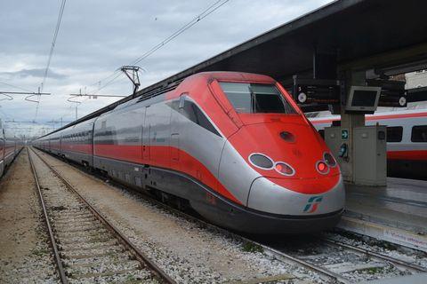 Velence állomás, venezia santa lucia, olaszország, ETR 500 vonat