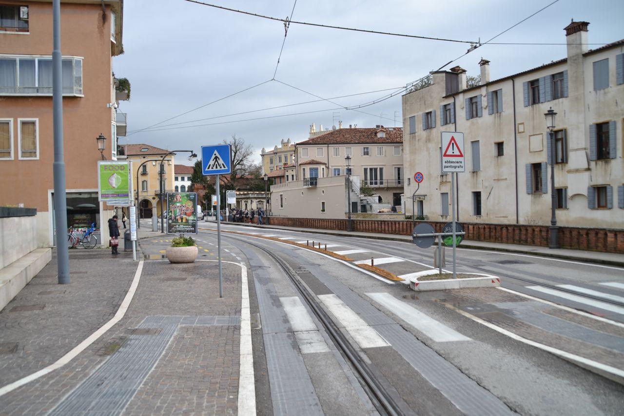 padova, olaszország, villamos, Translohr, gumikerekű, gumikerék