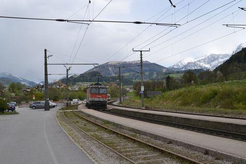 Ausztria, windischgarsten, bahnhof, vasútállomás, öbb 1144, regionalzug