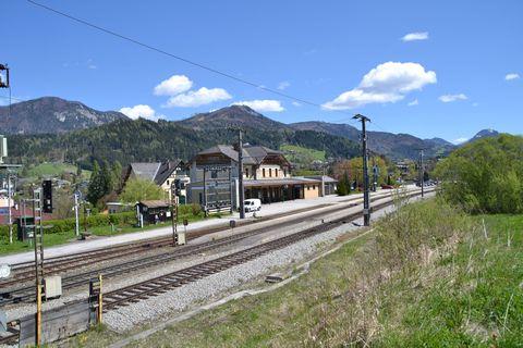 Ausztria, windischgarsten, vasútállomás, bahnhof