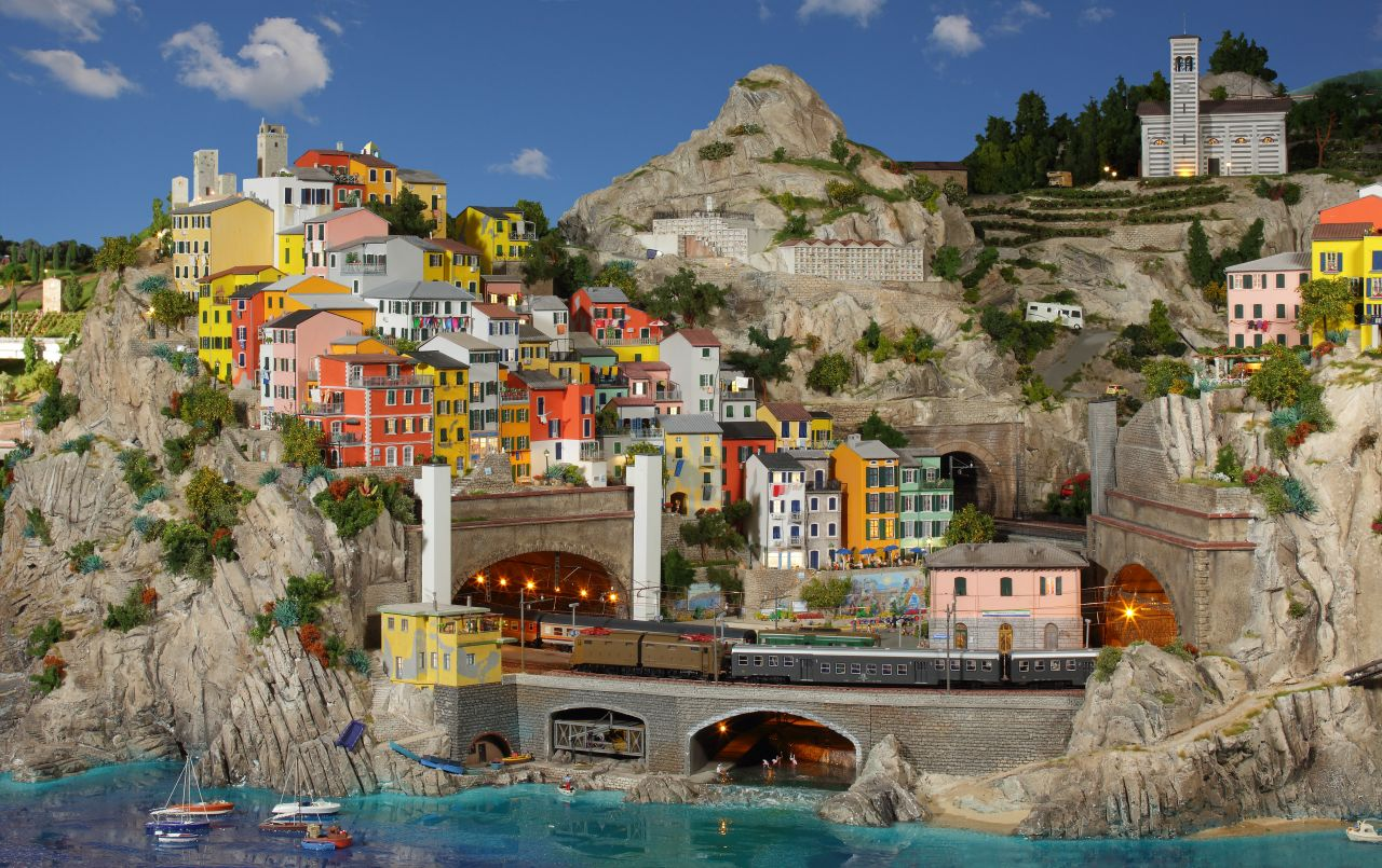 miniatur wunderland hamburg, olaszország, ligur-tenger