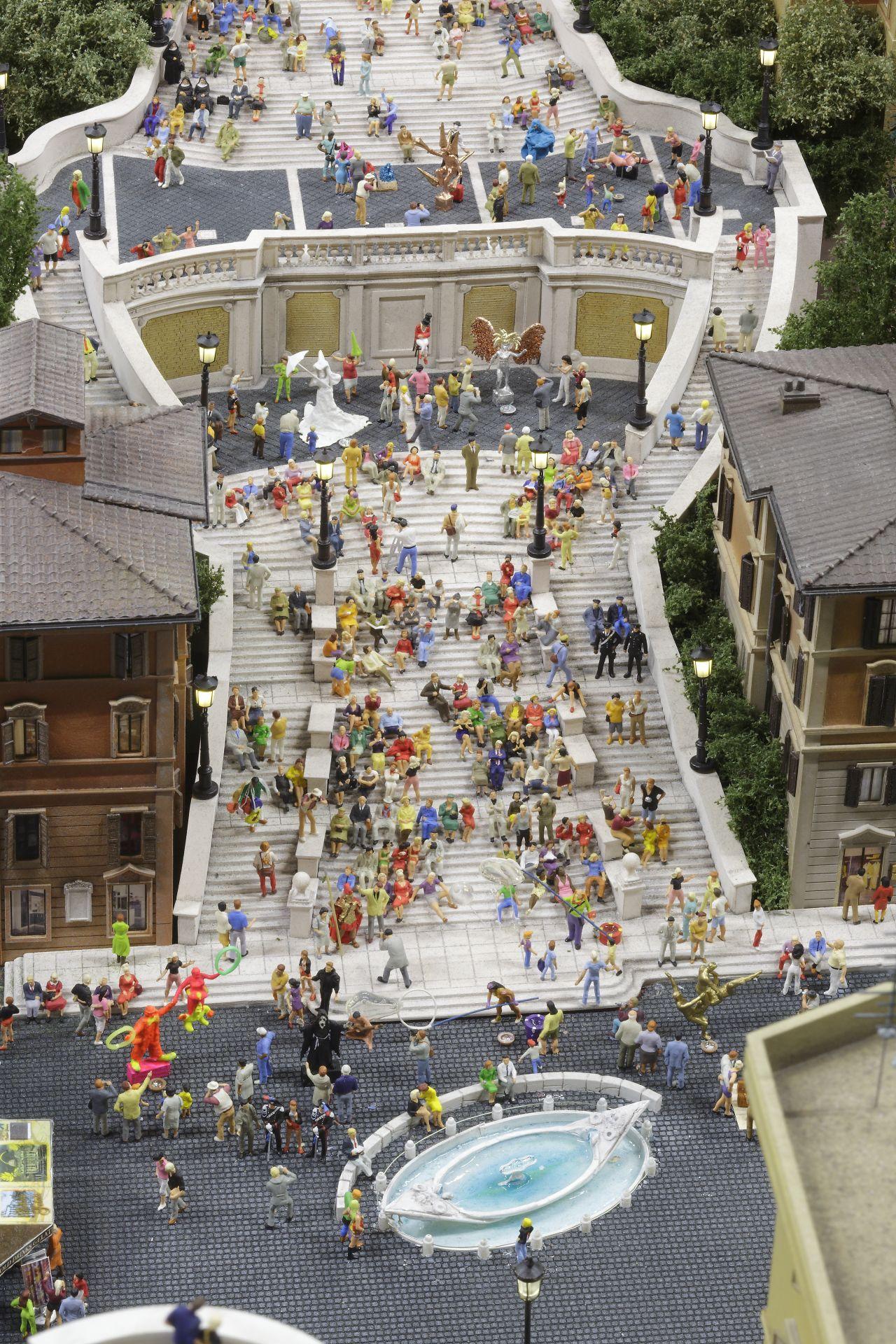 miniatur wunderland hamburg, olaszország, róma, spanyol lépcső