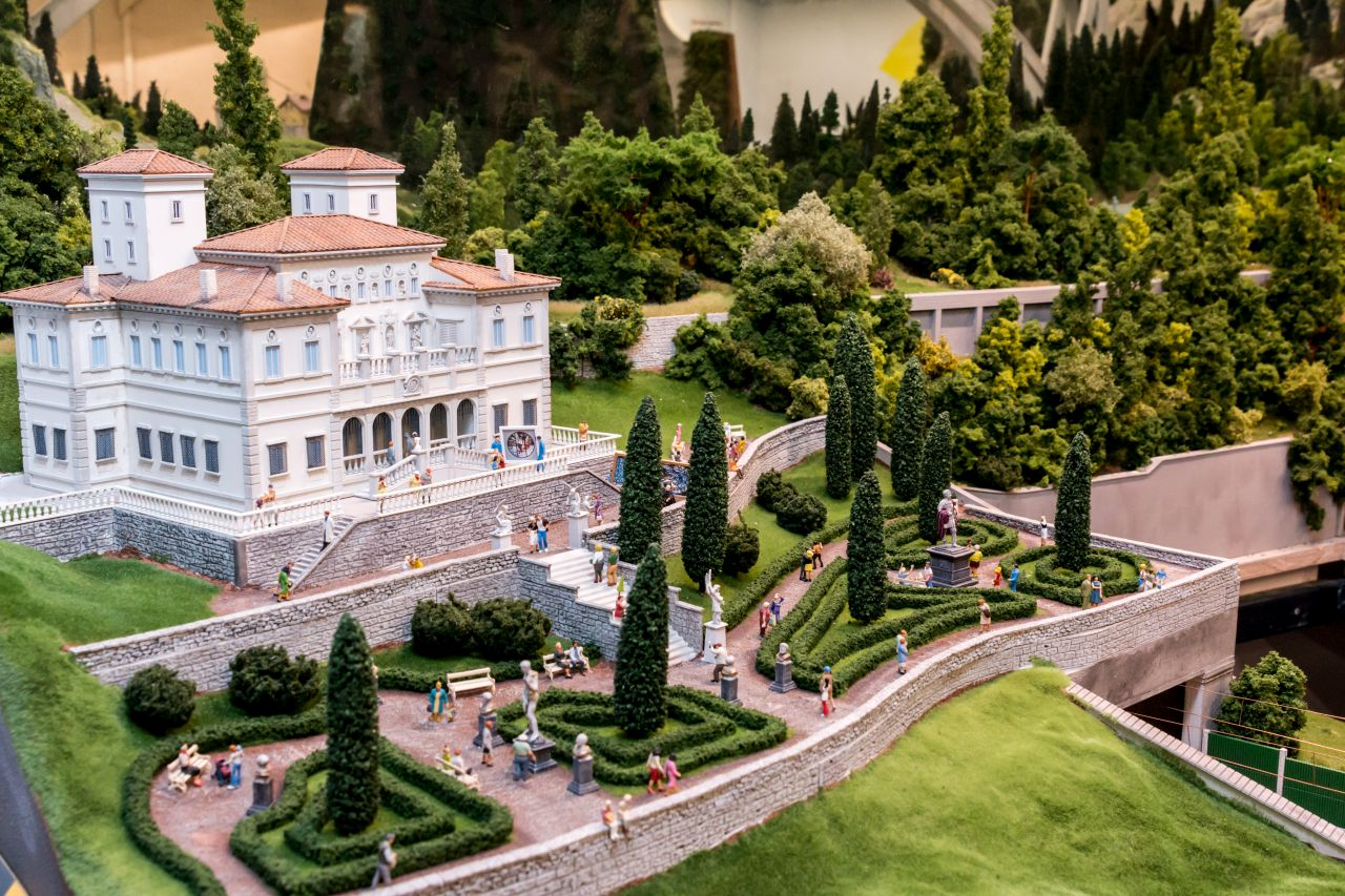 miniatur wunderland hamburg, olaszország, római villa