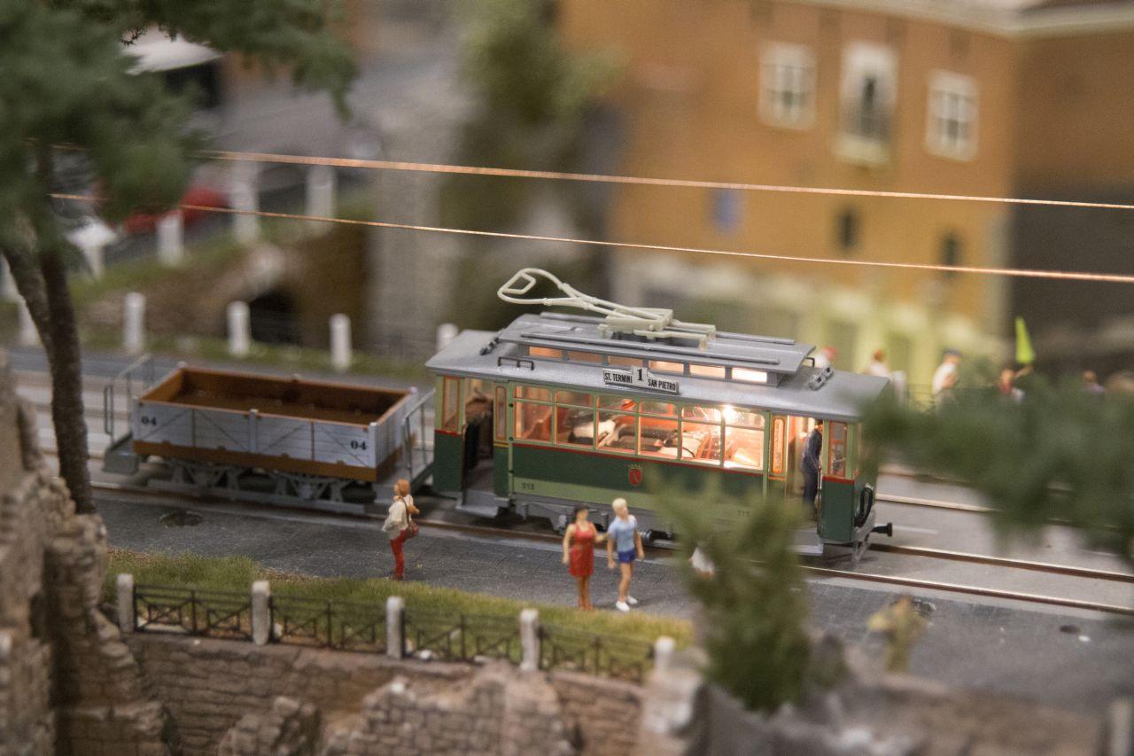 miniatur wunderland hamburg, olaszország, római villamos