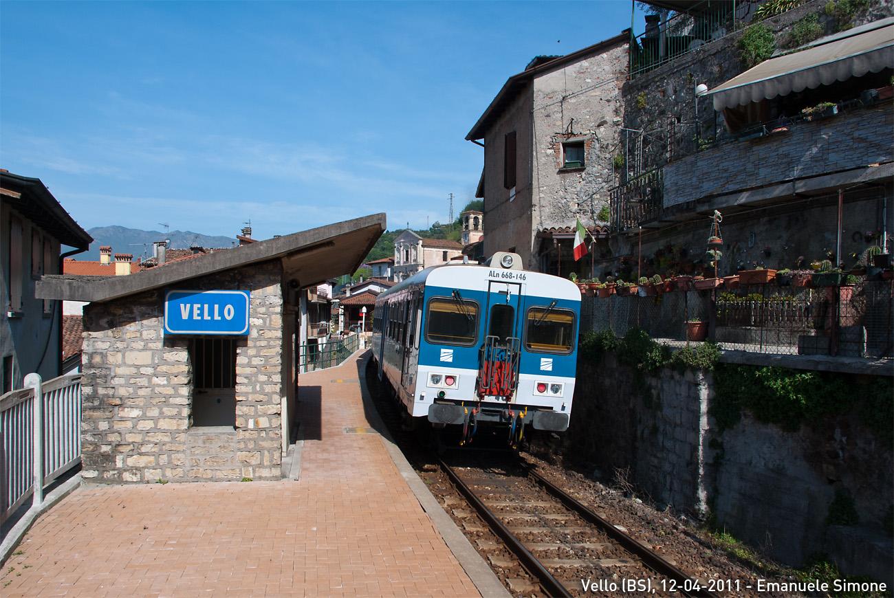 Vello, Brescia–Iseo–Edolo-vasútvonal