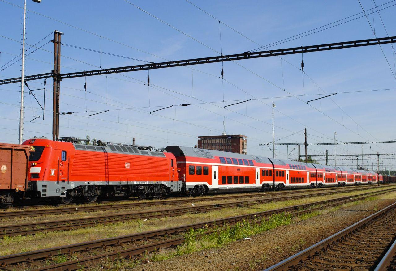 németország, regionális közlekedés, nagysebességű vasút, münchen, nürnberg, express, skoda 109e, db regio, cheb, csehország