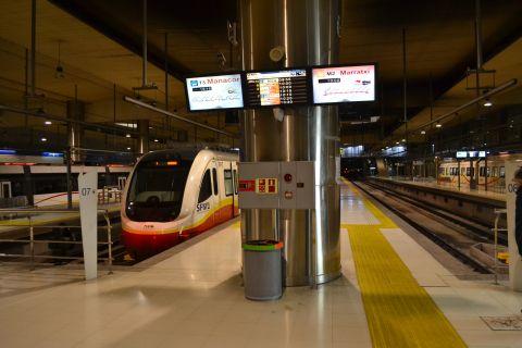 mallorca vasútja kijelzők utastájékoztatás