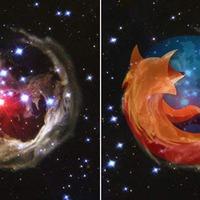 Lefotózta a Hubble az univerzum legnagyobb Firefox logóját