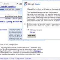 A Google Reader, mint közösségi tér