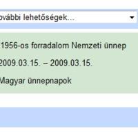 A Google Calendar és a márciusi 56-osok