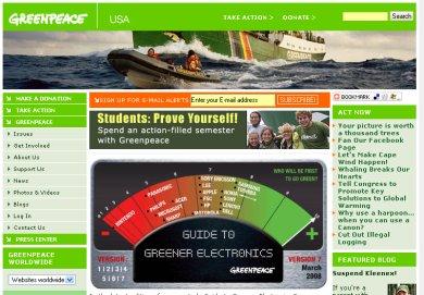 Greenpeace oldala