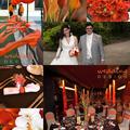 Narancs és barna esküvő a Dunán