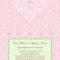 Rózsaszín meghívó - egyszerre modern és klasszikus