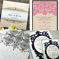 Neobarokk esküvői meghívó